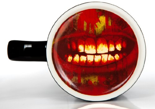 Infected Zombie Mug - Black 14oz Ceramic Coffee Mug with a Secret Zombie Mouth Reveal on the Bottom - Microwave Safe - Perfect Christmas Gift For That Walking Dead Coffee Lover