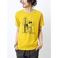 (grn) ジーアールエヌ スヌーピープリント クルーネック ショートスリーブTシャツ [gu421080r]