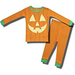 Glow in the Dark Pumpkin Pajamas for Infants