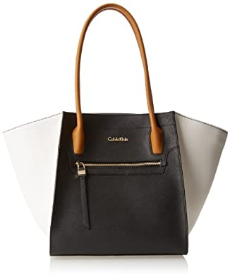 Calvin Klein Key Item Saffiano Tote H4AA12FZ Shoulder Bag,Black Combo,One Size