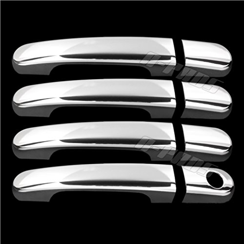 A-PADS 4 Chrome Door Handle Covers For Ford Freestyle 2005-2007, Five Hundred 2005-2007, Taurus/Taurus X 2008, & Mercury Montego 2005 2006 2007 - Without Passenger Keyhole (2006 Ford 500 Accessories compare prices)