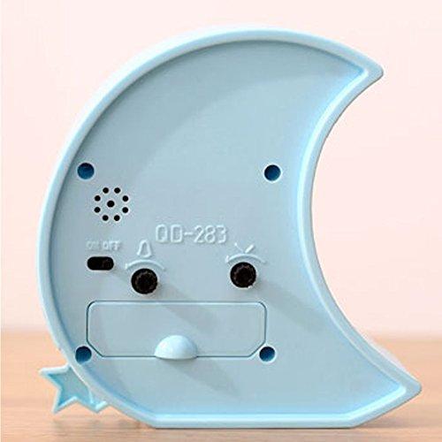 Mini Battery Operated chevet numérique silencieuse réveil pour enfants ( E )