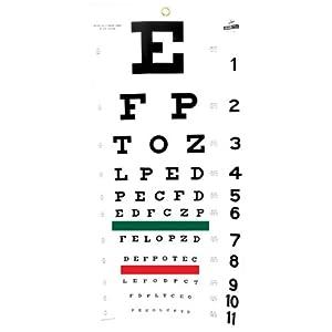 Amazon.com: Snellen Eye Chart (20 Foot): Health & Personal Care