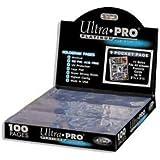 Ultra pro - Pochette pour cartes - Platinum Serie - Lot de 100 feuillets de 9 cartes