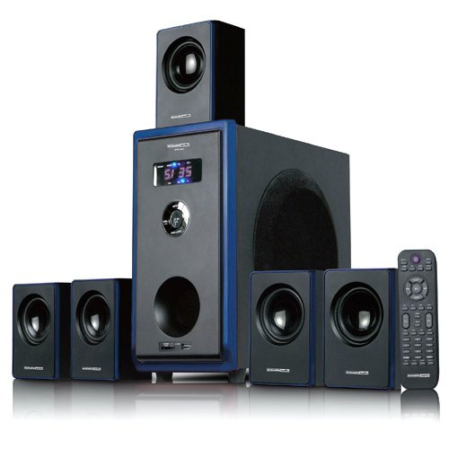 Big Save! Acoustic Audio AA5102 800W 5.1 Channel Home Theater Surround Sound Speaker System
