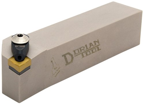 Dorian Tool ADCLN Jet-Stream Square Shank Chromium Molybdenum Alloy Steel Thru-Coolant Turning Holder, Right-Hand Cut, 1