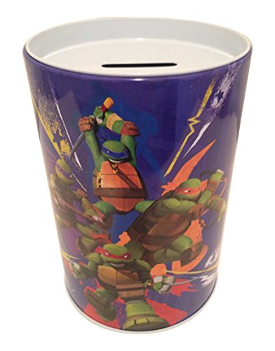 The tin box company in Action - Teenage Mutant Ninja Turtle - Saving (Coin or Money) Bank for Kids