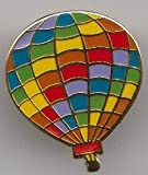 Ballooning Hot Air Balloon Rainbow Pin Badge