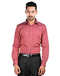 Oxemberg Men's Self Design Formal 100% Cotton Copper Shirt