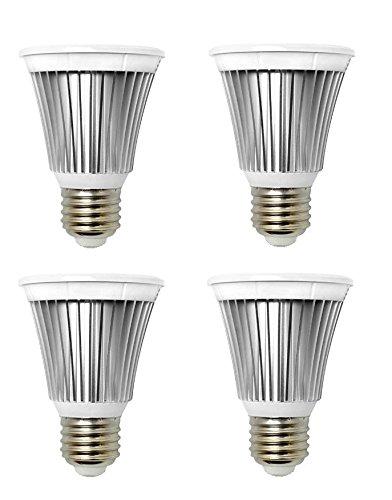 4-Pack Of Helios® Par20 Led Bulb, 6W (40W Equivalent), 4000K (Daylight), Flood Light Bulb, 40° Beam Angle, Medium Base (E26), Cri>85, Dimmable, Ul-Listed