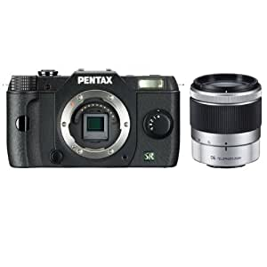 Pentax Q7 12.4MP Compact System Camera with 06 Telephoto Zoom 15-45mm f2.8 Lens (Black)