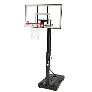 Buy Spalding 68395W NBA Portable Basketball Hoop with 54 Inch Polycarbonate Backboard by Spalding