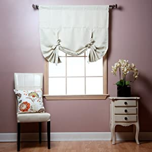 "Tie-Up Shade Solid Insulated Thermal Blackout Window Shade 63""L from Best Home Fashion"