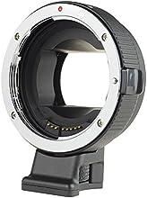 Commlite Auto Focus EF-NEX EF-EMOUNT FX Lens Mount Adapter for Canon EF EF-S Lens to Sony E Mount NEX 3/3N/5N/5R/7/A7 A7R Full Frame, Color Black