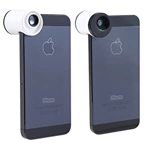 AGPtek® Clip Type White 3 in 1 Lens (180 Degree Fisheye Lens + Wide Angle Lens + Macro Lens) for iPhone 5 5G