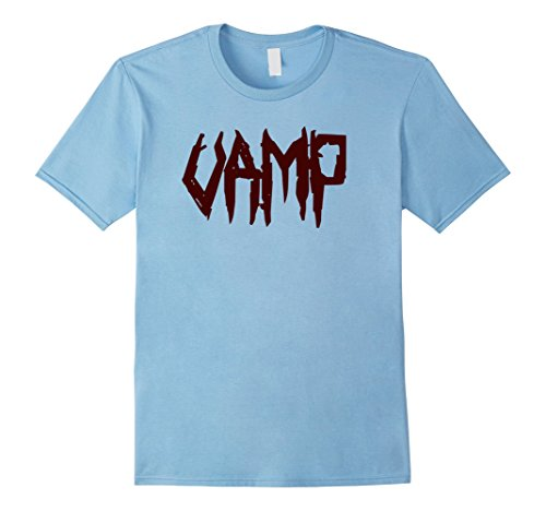 [Men's Vamp Creepy Bloody Halloween Costume Vampire T-Shirt Tee Medium Baby Blue] (Last Minute Halloween Costumes For Babies)