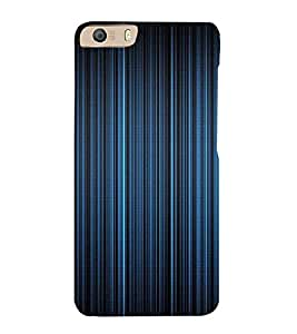 PrintVisa Blue Stripes Design 3D Hard Polycarbonate Designer Back Case Cover for Micromax Canvas Knight 2 E471