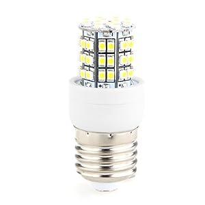E27 5W Bombilla Lámpara Luz Blanco Cálido 60 LED 3528 SMD AC 220V Bajo Consumo   Comentarios de clientes y más Descripción
