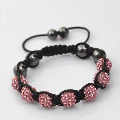 Shamballa Friendship Bracelet Available in 20 Colours With Crystal Set Beads, Disco Balls From KurtzyTM