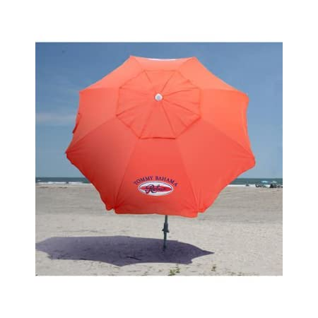 Special aluminium undercoating protects against the sun's harmful rays. Wind vent added for stability. Can be used wherever protection from sun is required. 7 feet/ 2.13 meters sand anchor beach umbrella. Integrated sand anchor secures your umbrella ...