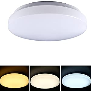 Mr.Lighting, Color Switchable LED Circular Ceiling Panel Lamp Lights 3000K/4000K/6000K, 160 Degree Beam Angle, Flush Mount Ceiling Lighting for Living Room, Bedroom, Dining Room by Mr.Lighting