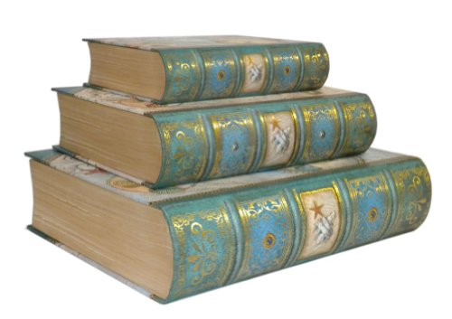 Punch Studio Seascape Set of 3 Large Nesting Book Boxes