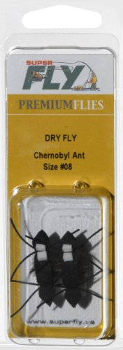 Superfly Fishing Lures Dry Fly Chernobyl Ant Size #08
