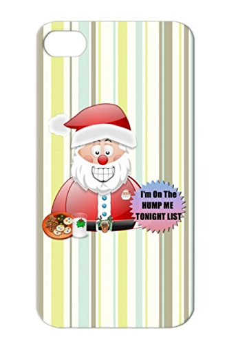 Tpu Santa Father Christmas Im On The Hump Me Tonight L Milk Cookies Holiday Raindeer Holidays Snowman Christmas On Belt Buckle Snow Hat Occasions Naughty List Xmus Scene Case Cover For Iphone 4 White Anti-Scuff front-765421
