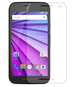 SNOOGG Pack of 6 Moto G Turbo (Black, 16GB)Full Body Tempered Glass Screen Protector [ Full Body Edge to Edge ] [ Anti Scratch ] [ 2.5D Round Edge] [HD View] - White