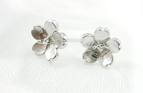 Sterling Silver flower Stud Earrings - 1