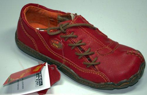Damen Comfort Leder Schuh von TMA EYES in Rot Sport Schuhe echt Leder Gr. 36