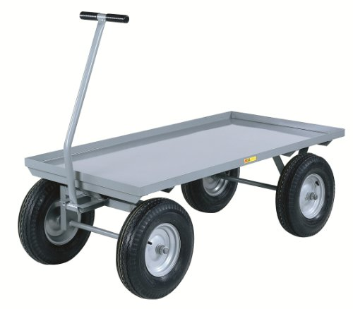 "Little Giant CH-3660-12P Steel Heavy-Duty Wagon Truck, 2000 lbs Capacity, 60"" Length x 36"" Width x 16-1/2"" Height"