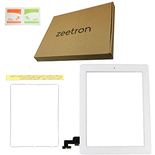 Zeetron © Touch Screen & Digitizer Replacement Parts For Apple Ipad 2 (White)