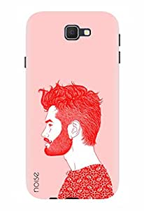Noise Designer Printed Case / Cover for Samsung Galaxy J7 Prime / Patterns & Ethnic / Beard Design