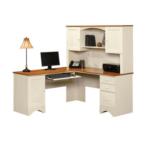 Buy Low Price Comfortable Antique White Corner Computer