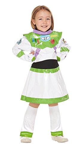 Disney Pixar Toy Story Buzz Lightyear Girl Kids Costume girl 120cm-140cm 95651M (Buzz Lightyear Costume For Girls)
