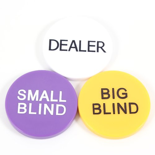 Buy Bargain Small Blind, Big Blind and Dealer Button Poker Lot