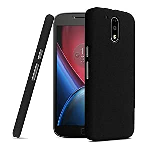 Case Creation Motorola Moto G4 Play / Moto G Play (4Th Gen) / Moto G4 Play / Motog4 Play / Motog4Play 2016 Matte Finish Back Case Cover Guard Color :- Dark Pitch Black