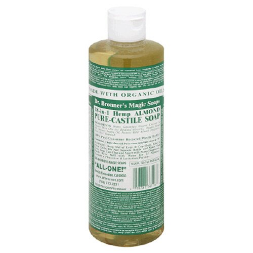 Dr. Bronner 18-in-1 Pure-Castile Soap, Hemp Almond - 16 fl oz