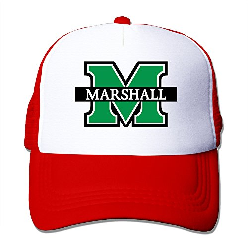 Candi Men's Marshall University Logo Hat Sports Baseball Flexfit Size One Size Red