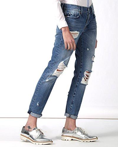 SilvianHeach Donna Jeans Bagni Denim Pantaloni Con Risvolto Strappati Denim 34