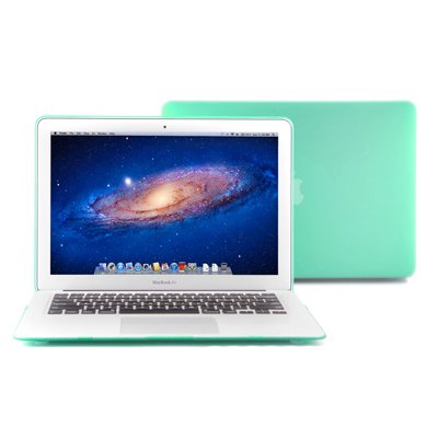 GMYLE (TM) Robin Egg Blue Turquoise Rubberized (Rubber Coated)-see-through Hard Case Skin for 13