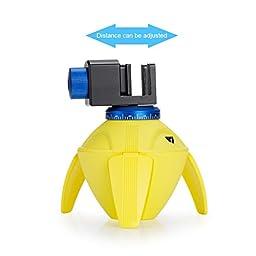 TKHOT PC-100 Tripod Selfie Sticks Holder Photography Remote Control Self-timer Robot Mini Panorama 360 Degree Rotation Tripod Heads FOR Phone GoPro 2/3/4 Cameras (yellow)