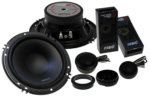 "Cerwin-Vega Xed650C 6.5"" 2-Way Component Speaker Set - 250W Max / 50W Rms Car Speakers"