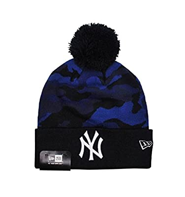 New Era Mlb Camo Knit Beanie New York Yankees Unisex Hat Navy Blue