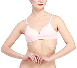 Glus Summer Lady Love Push -Up Nonwire Seamless Bra (32, Pink)