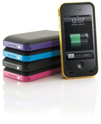 Mophie Juice Pack Plus Case and Rechargeable Battery for iPhone 4 & 4S Retail Packaging (Yellow) by Mojoplay
