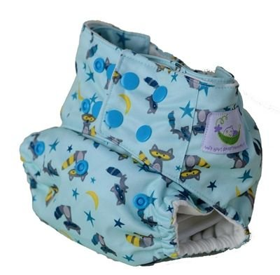 Sweet Pea Bamboo - All-In-One - Raccoon Diaper - 1
