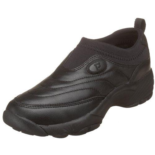 Propet Women's W3851 Wash & Wear Slip-On,Black,8 M (US Women's 8 B)
