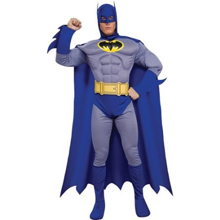 [Batman: The Brave and the Bold Deluxe Muscle Chest Adult Halloween Costume (M)] (Bold Jumpsuit Costumes)